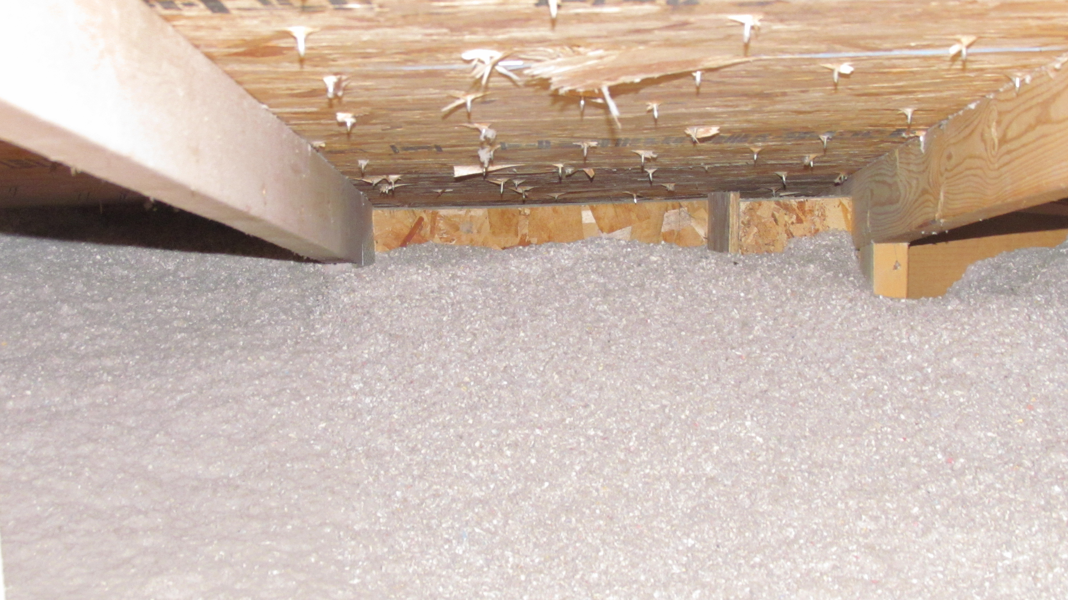 No insulation near soffit