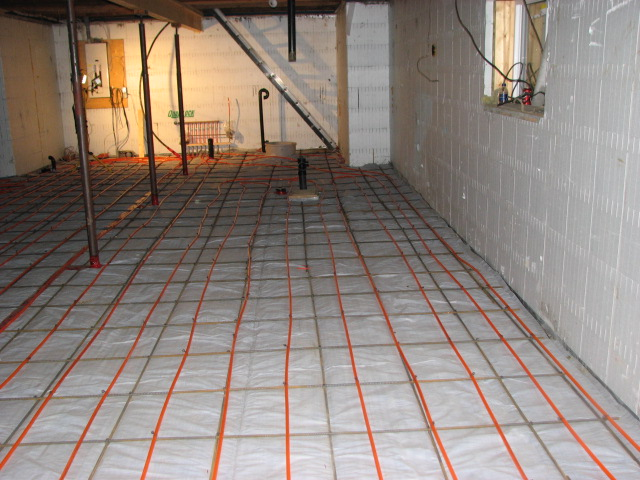 home and want to install in floor heat in the floor of the basement